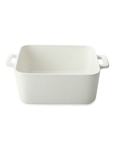 Maxwell & Williams Basics Set of Two Square Baking Dishes-WHITE-One Size
