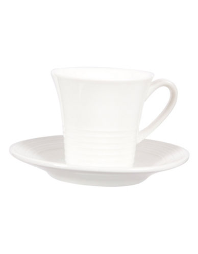 Maxwell & Williams Set of Four Cirque Demi Cups with Saucers-WHITE-One Size 88184356_WHITE_One Size