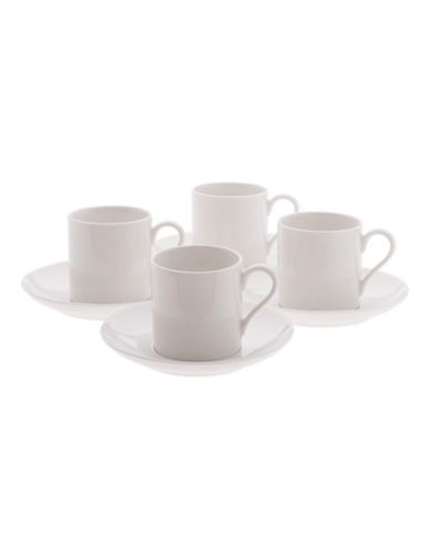 Maxwell & Williams Basic White Set of Eight Demi Cups and Saucers-WHITE-One Size 88179663_WHITE_One Size
