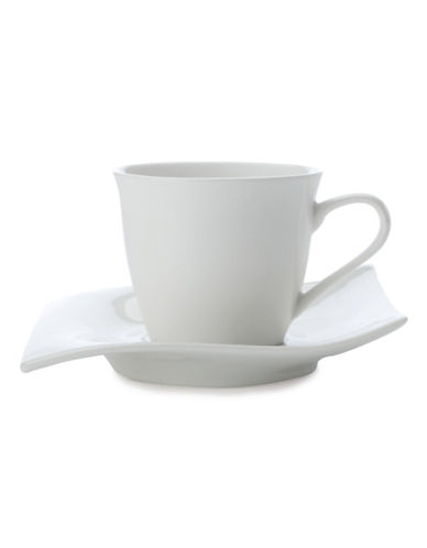 Maxwell & Williams Motion Eight Pack Demi Cup and Saucer Set-WHITE-One Size