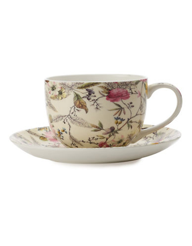 Maxwell & Williams Set of Two William Kilburn Summer Blossom Teacups and Saucers-MULTI-COLOURED-One Size 88185675_MULTI-COLOURED_One Size