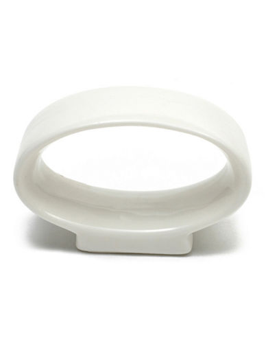 Maxwell & Williams Basic White 12-Pack Oval Napkin Rings-WHITE-One Size