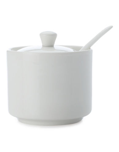 Maxwell & Williams Basic White Sugar Bowl and Spoon Set-WHITE-One Size