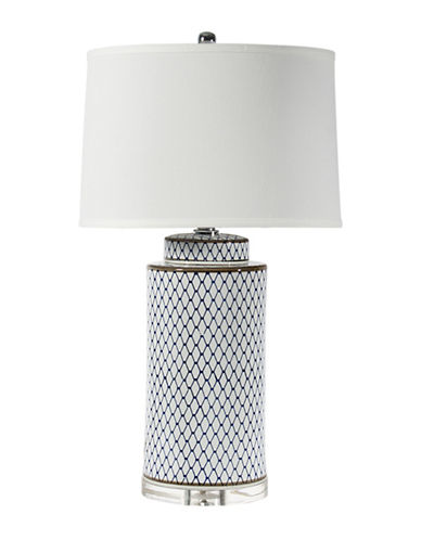 Home Details Ceramic Table Lamp-BLUE-One Size