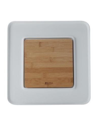 Maxwell & Williams Bamboo Basics Square Platter Set-WHITE-One Size