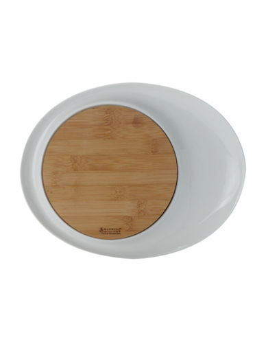 Maxwell & Williams Bamboo Basics Oval Platter-WHITE-One Size