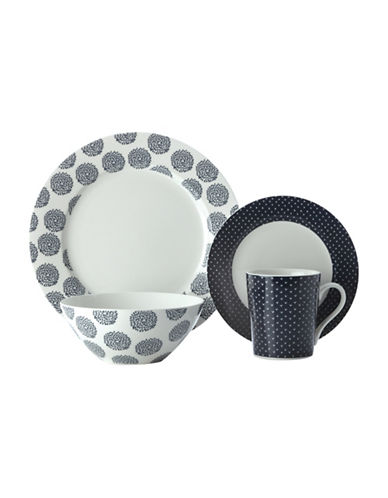 Maxwell & Williams 16-Piece Dinner Set-INDIGO-One Size