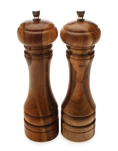 Maxwell & Williams Acacia Two-Piece Salt and Pepper Mill Set-WOOD-Small