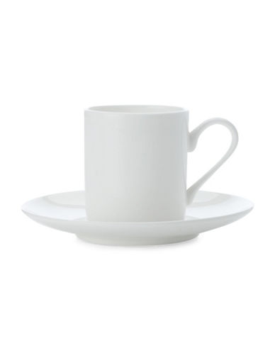 Maxwell & Williams Four-Piece Cashmere Demi Tasse Cup and Saucer Set-WHITE-One Size