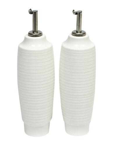 Maxwell & Williams Two-Piece Cirque Oil & Vinegar Bottles Set-WHITE-23