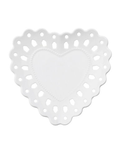 Maxwell & Williams Lille Six-Piece Porcelain Heart Plate-WHITE-14cm