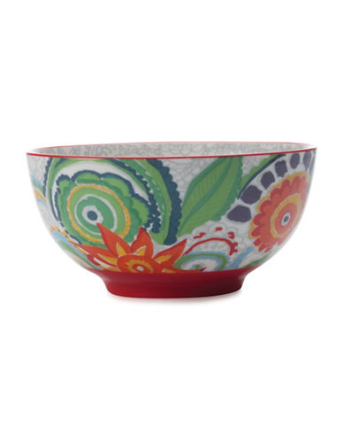 Maxwell & Williams Gypsy Two-Piece Floral Porcelain Bowl Set-RED-One Size