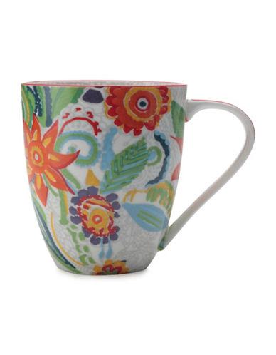 Maxwell & Williams Gypsy Two-Piece Floral Porcelain Mug Set-RED-500 ml