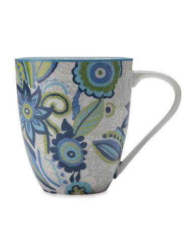 Maxwell & Williams Gypsy Two-Piece Floral Porcelain Mug Set-BLUE-500 ml