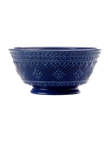 Maxwell & Williams Ponto Four-Piece Ceramic Footed Bowl Set-BLUE-One Size