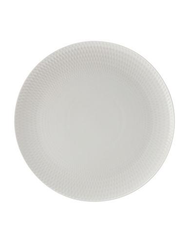 Maxwell & Williams Diamond Porcelain Round Platter-WHITE-One Size