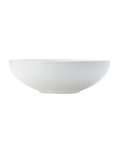 Maxwell & Williams Diamond Three-Piece Porcelain Coupe Bowl Set-WHITE-One Size