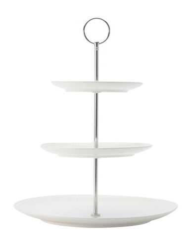 Maxwell & Williams Diamond Classic Round Porcelain Cake Stand-WHITE-One Size