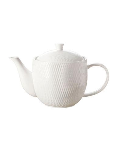 Maxwell & Williams Diamond Classic Basics Porcelain Teapot-WHITE-1L