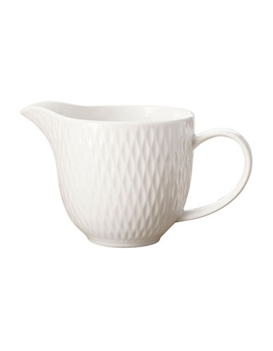 Maxwell & Williams Diamond Two-Piece Classic Basics Porcelain Creamer Set-WHITE-One Size