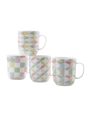 Maxwell & Williams Geoeclectic Four-Piece Porcelain Mug Set-MULTI-One Size