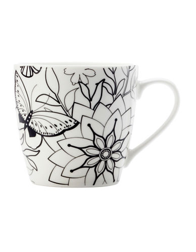 Maxwell & Williams Mindfulness Two-Pack Butterfly Mug-WHITE/BLACK-One Size 89362182_WHITE/BLACK_One Size