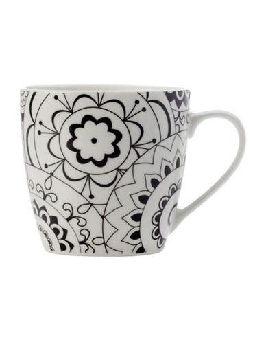 Maxwell & Williams Mindfulness Fireworks Two-Piece Porcelain Mug Set-WHITE/BLACK-One Size 89362183_WHITE/BLACK_One Size