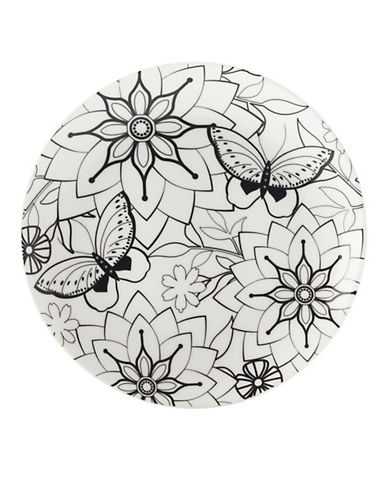 Maxwell & Williams Mindfulness Two-Pack Butterfly Plate-WHITE/BLACK-One Size 89362186_WHITE/BLACK_One Size