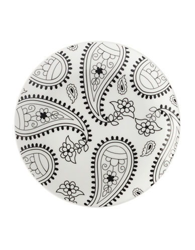 Maxwell & Williams Mindfulness Paisley Two-Piece Plate Set-WHITE/BLACK-One Size 89362188_WHITE/BLACK_One Size