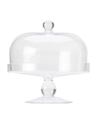 Maxwell & Williams Diamante Glass Cake Stand with Dome-CLEAR-One Size