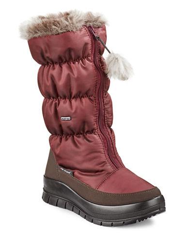 Pajar Toboggan Nylon Zip Boots-RED-EUR 38/US 7