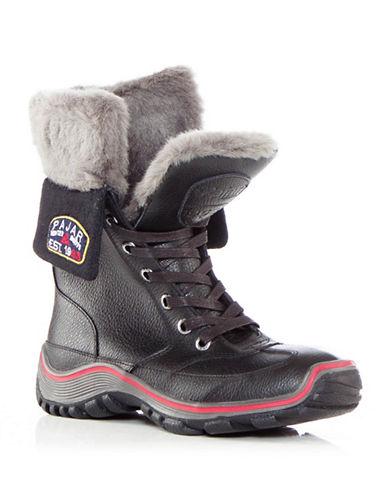 Pajar Waterproof Leather Boots-BLACK-EUR 37/US 6