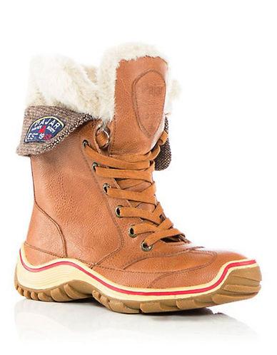 Pajar Alice Faux Fur Winter Boots-COGNAC-EUR 36/US 5