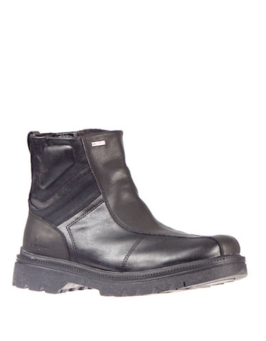 London Fog Jarvis Ankle Boots-BLACK-EU 42/US 9