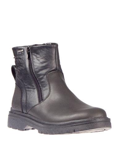 London Fog Jean Side-Zip Ankle Boots-BLACK-EU 41/US 8