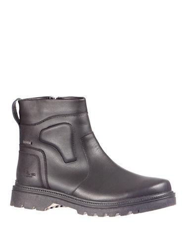 London Fog Jerel Side-Zip Ankle Boots-BLACK-EU 44/US 11