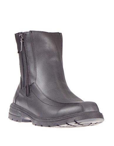 London Fog Jude Side-Zip Ankle Boots-BLACK-EU 46/US 13