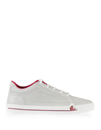 Pajar Queens Perforated Leather Sneakers-OFF WHITE-EU 44/US 11