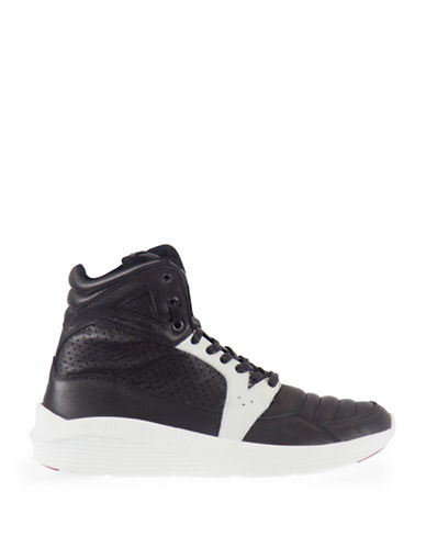 Pajar Tribeca Contrast Vintage Leather High-Tops-BLACK/WHITE-EU 41/US 8 plus size,  plus size fashion plus size appare