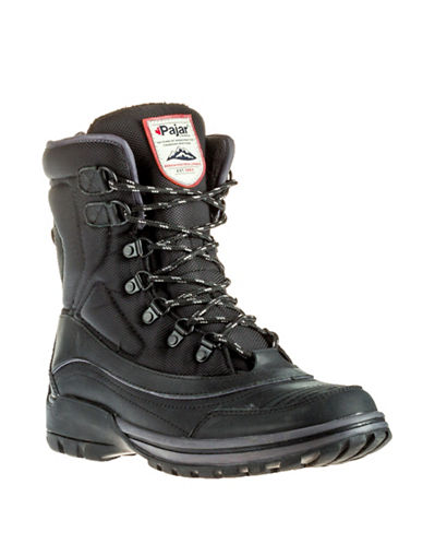 Pajar Acchiles Casual Boots with Faux Fur-BLACK-EU 40/US 7