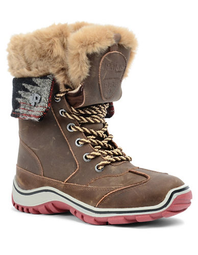 Pajar Alice Native Winter Booties-BROWN/BLACK-EUR 38/US 7