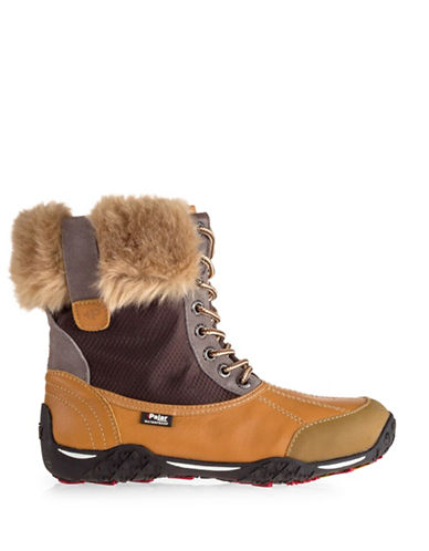 Pajar Gabby Faux-Fur Trim Boots-BROWN-EUR 37/US 6