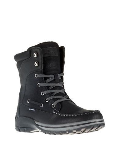 London Fog Boston Ankle Boots-BLACK-EU 41/US 8
