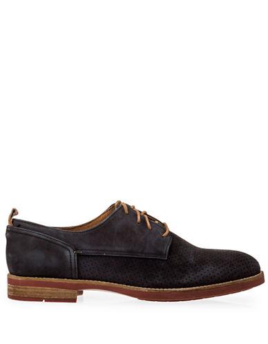 Pajar River Café Perforated Leather Oxfords-BLACK-EU 41/US 8