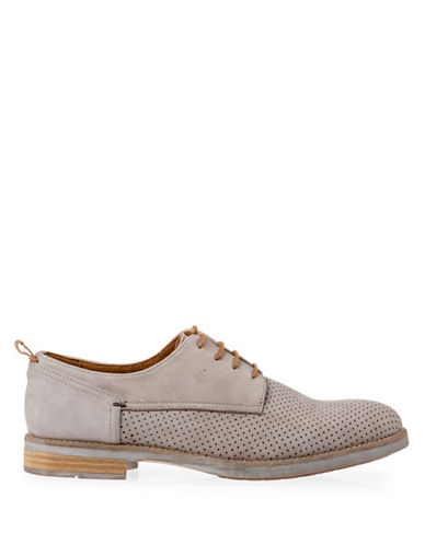Pajar River Café Perforated Leather Oxfords-GREY-EU 41/US 8