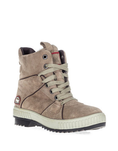 Pajar Kaelene Suede Ankle Boots-TAUPE-EUR 37/US 7