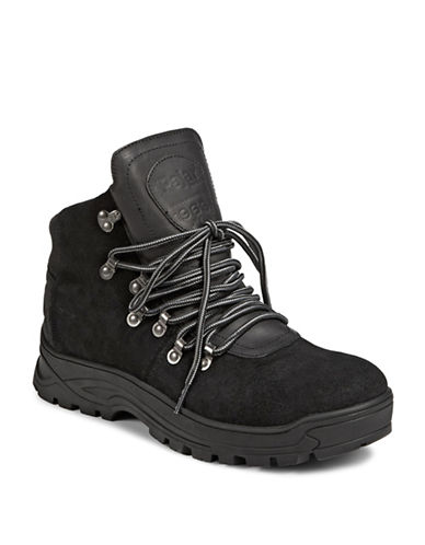 Pajar Iliad Suede Ankle Boots-JET BLACK-EU 42/US 9