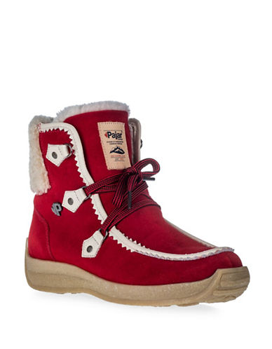 Pajar Aby Round Toe Booties-RED-6
