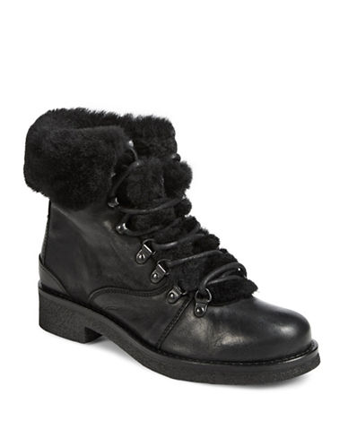 Pajar Waterproof Leather Lace-Up Boots-BLACK-EUR 37/US 6