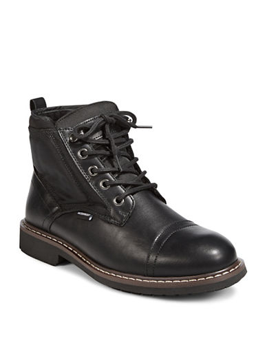 London Fog Turon Lace-Up Boots-BLACK-EU 44/US 11
